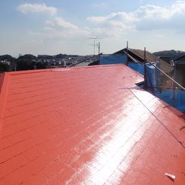 コロニアル屋根の塗装工事
