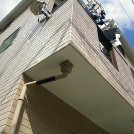外壁破損の改修工事